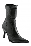 Charlie 1 Horse Black Padded Stilleto Boots