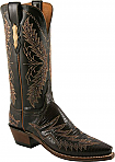 Womens Lucchese 1883 Cigar Retro Lizard Boots