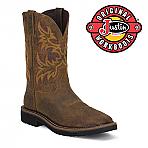 Mens Justin Original Rugged 11IN Work Boots Tan Steel Toe WK4682