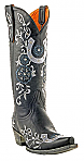 Womens Old Gringo Black Lucky Boot 