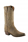 Mens Lucchese 1883 Olive Cowboy Boot with Round Toe