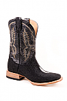 Mens Stetson Black Stingray Vamp Boot