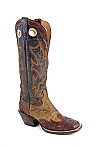 Mens Stetson Hand Tooled Squared Toe Wing Tip