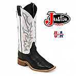 Women's Justin Bent Rail BLACK BURNISHED CALF BRL313