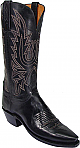 Womens Lucchese 1883 Black Burnished Mad Dog Goat Boots