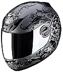 Scorpion EXO-400 Rapture Motorcycle Helmet Silver