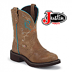Women's Justin Gypsy Boots BARNWOOD BROWN COWHIDE L9607