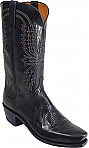 Mens Lucchese 1883 Black Burnished Mad Dog Goat Boots