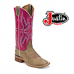 Women's Justin Bent Rail Western Pink/Tan BRL311