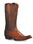 Mens Stetson Crazy Horse Ostrich Boot