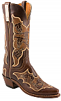 Womens Lucchese 1883 Chocolate Oil Stoned Herd Calf Boots