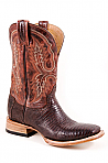 Mens Stetson Brown Teju Lizard Vamp Boot