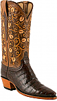 Lucchese Classic Hand Tooled Ultra Caiman Belly Boots
