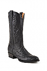 Mens Stetson Black Ostrich Boot
