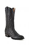 Mens Stetson Black Ostrich Boot