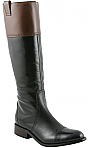 "Charlie 1 Horse 15"" Black/Ginger Bread Collared English Riding Boots"