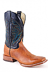 Mens Stetson Navy Square Toe Boot