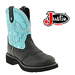Women's Justin Gypsy Black Deercow Cowboy Boot L9905