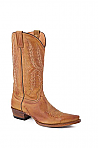 Mens Stetson Tan Handburnished Ficcini Boot