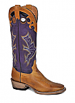 Mens Stetson Tan/ Purple Handburnished Ficcini Boot