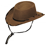Kids Brown Felt Hat Woody