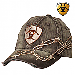 Ariat Boots Cap with Barbwire and LOGO  1509802