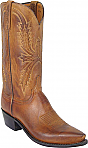 Mens Lucchese 1883 Tan Burnished Mad Dog Goat Boots
