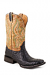 Mens Stetson Black Ostrich Vamp Boot