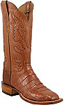 Lucchese Womens Classics Peanut Buffalo Crocodile Belly Boots