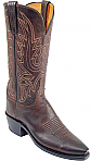 Womens Lucchese 1883 Chocolate Burnished Mad Dog Goat Boots