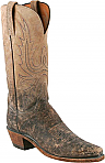 Womens Lucchese 1883  Stonewash Tan/Burnished Mad Dog Goat Boots