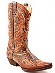 Mens Stetson Distressed Brown Cowboy Boot