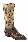 Womens Lucchese 1883 Chocolate Burnished Python