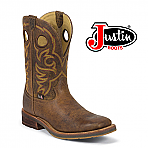 "Men's Justin 11"" Rugged Tan 1825"