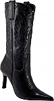 Charlie 1 Horse Black Calf Stiletto Boots