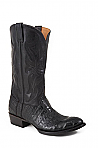 Mens Stetson Black Flank Caiman Boot