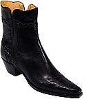 Charlie 1 Horse Black Calf Boots with Side Zipper