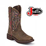 Women's Justin Gypsy BARNWOOD BROWN BUFFALO L9608