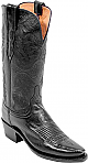 Womens Lucchese 1883 Black Buffalo Boots