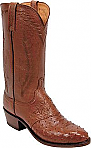 Mens Lucchese 1883 Antique Cognac Diego Full Quill Ostrich
