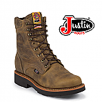 "Men's Justin 8"" Rugged Tan Gaucho Work Boot 440"