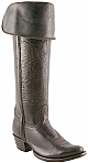 "Charlie 1 Horse 16"" Chocolate Oiled Calf Riding Boot with Collar and Back Zipper"