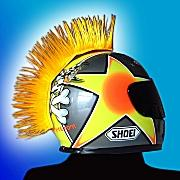 Yellow Motorcycle Helmet Mohawk