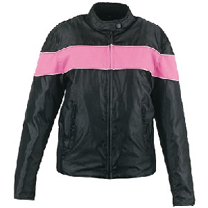 Black And Pink Nylon Jacket