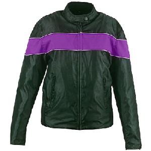 Purple and Black Nylon Jacket