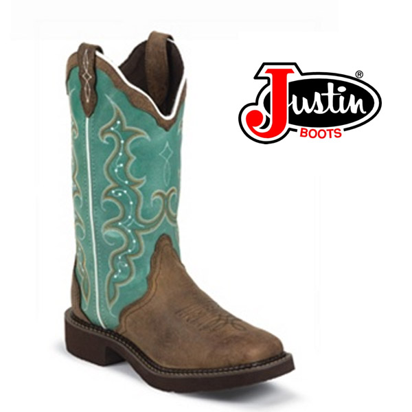 """Women's Justin Gypsy Boots 12"""" BARNWOOD BROWN COWHIDE L2904"""