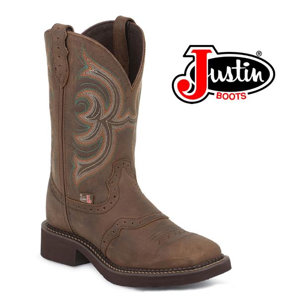 Women's Justin Gypsy Boots AGED BARK W/PERFED SADDLE  L9984