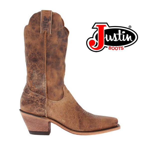 Women's Justin Bent Rail Tan Road Cowboy Boots BRL122