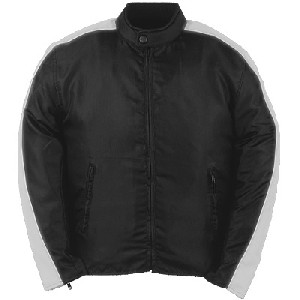 Black and Silver Nylon Jacket