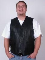 Side-Lace Leather Vest